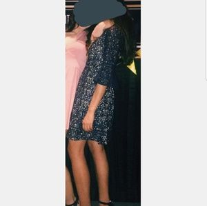 Eliza J Dresses - Navy bell sleeve lace dress
